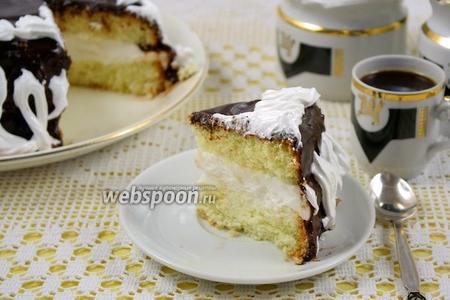 Торт бисквитный с «Птичьим молоком»