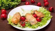 Фото рецепта Рулетики из куриного филе с ветчиной