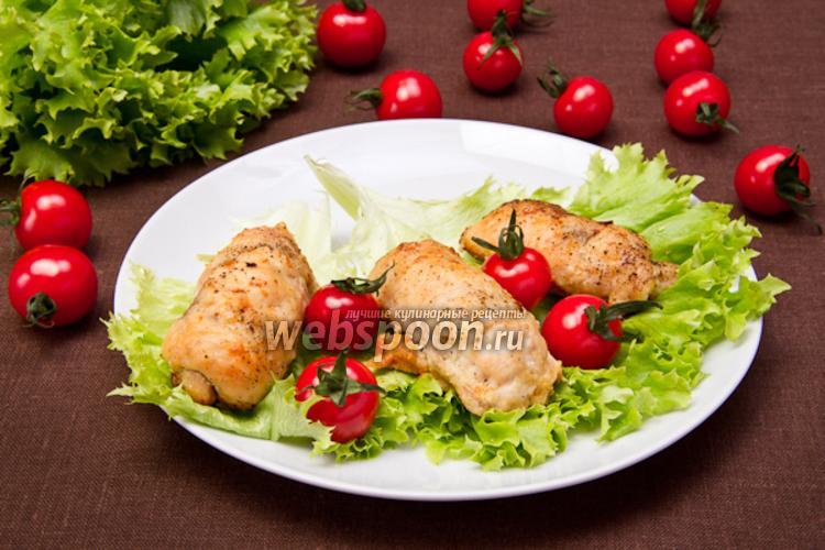 Фото Рулетики из куриного филе с ветчиной
