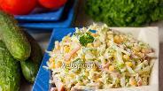 Фото рецепта Салат «Хрустик» из пекинской капусты