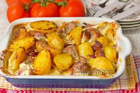 Свинина с картофелем и луком