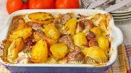 Фото рецепта Свинина с картофелем и луком