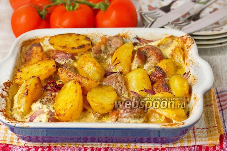 Фото Свинина с картофелем и луком