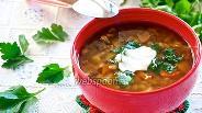 Фото рецепта Грибной суп с перловкой