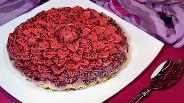 Фото рецепта Салат-торт «Селёдка под шубой в желе»