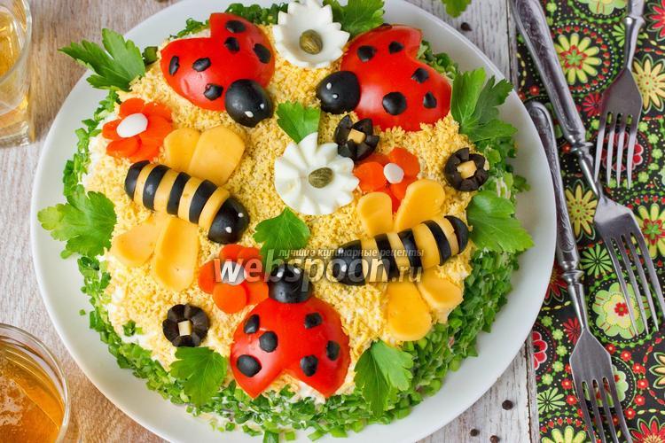 Рецепты салатов для детского дня рождения с фото