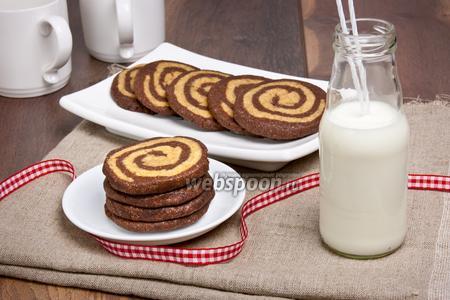 Кофейно-шоколадное печенье «Зебра»