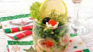 Фото рецепта Салат-коктейль «Зимняя лакомка»