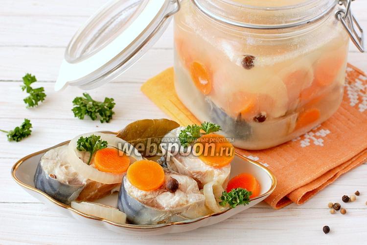 Фото Скумбрия маринованная с луком и морковью
