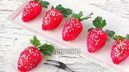Фото рецепта Закуска с копчёной скумбрией «Клубничка»
