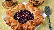 Фото рецепта Плетёный вишнёвый пирог