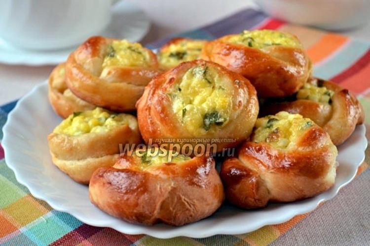 Фото Булочки-розочки с сырной начинкой