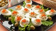 Фото рецепта Яйца с рыбным паштетом