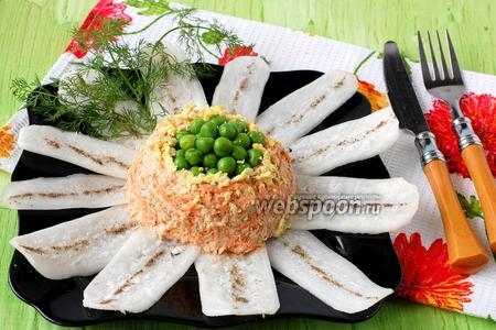 Салат из моркови и дайкона «Ромашка»