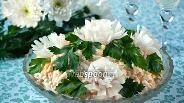 Фото рецепта Салат «Белые хризантемы»