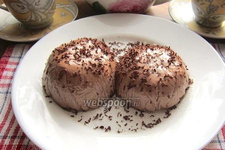 Творожное суфле со вкусом шоколада