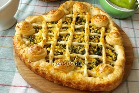 Пирог с яйцом и шпинатом «Мимоза»