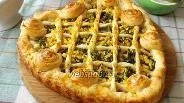 Фото рецепта Пирог с яйцом и шпинатом «Мимоза»