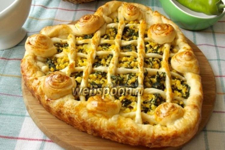 Фото Пирог с яйцом и шпинатом «Мимоза»