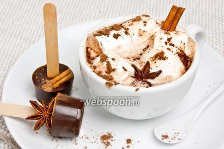 Пряный шоколад на палочке