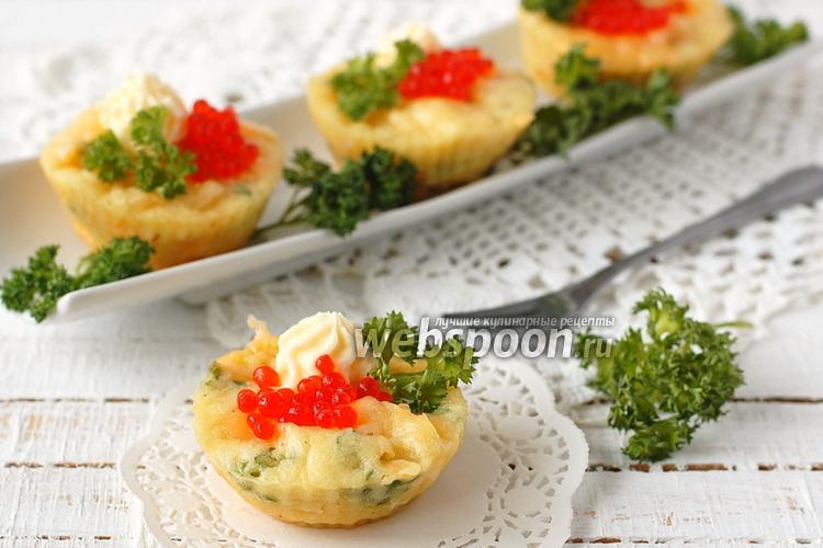 Фото Маффины с сыром и петрушкой в микроволновке