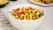Фото рецепта Салат из нута и овощей