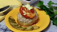 Фото рецепта Кабачки фаршированные мясом в духовке