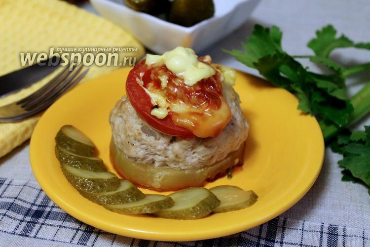 Фото Кабачки фаршированные мясом в духовке