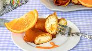 Фото рецепта Апельсиновые блины с творогом