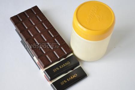 Для шоколадного ганаша приготовим шоколад и сливки не менее 30%.