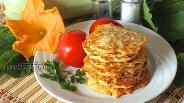 Фото рецепта Кабачковые оладьи с сыром