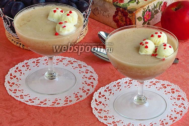 Фото Самбук из яблок с мороженым