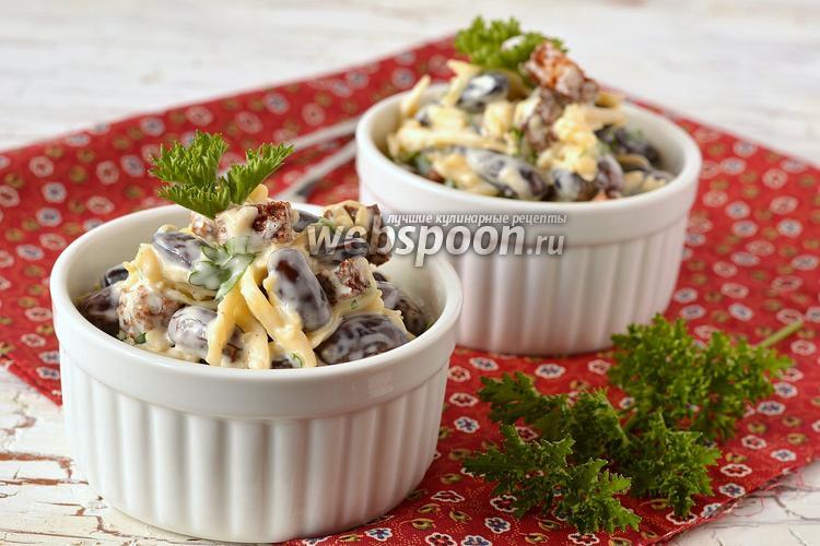 Фото Салат с фасолью и сухариками