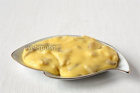 Плавленый сыр с грибами готов.