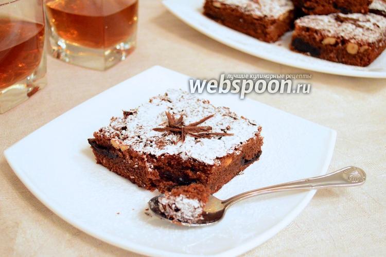 Фото Шоколадный пирог с черносливом