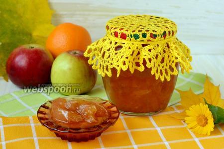 Варенье из яблок с апельсинами в мультиварке