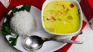 Фото рецепта Тайский суп с кокосовым молоком