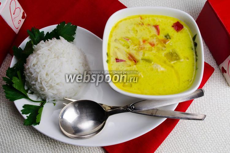 Фото Тайский суп с кокосовым молоком