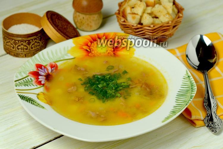 Фото Гороховый суп с копчёными рёбрышками