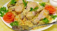 Фото рецепта Куриные голени с булгуром в мультиварке