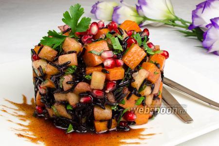 Тёплый салат из тыквы