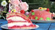 Фото рецепта Торт с марципаном «Принцесса»