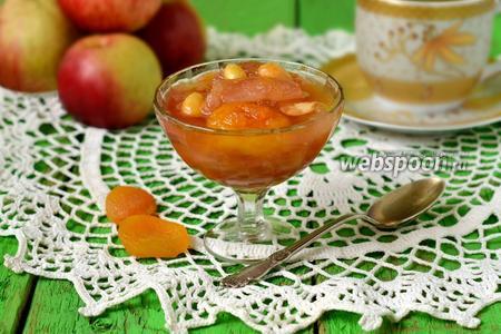 Яблочное варенье с курагой и миндалём