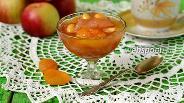 Фото рецепта Яблочное варенье с курагой и миндалём