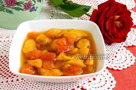 Варенье из персиков и кураги