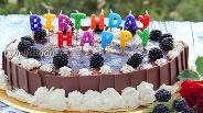 Фото рецепта Торт с пудингом и ягодами