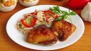 Фото рецепта Пряные куриные бёдрышки, запечённые в аэрогриле