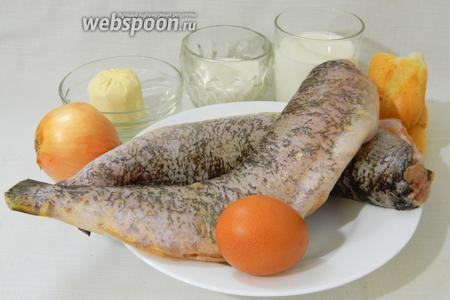 Чтобы приготовить рыбные котлеты из щуки возьмём подготовленную щуку, яйцо, лук, молоко, сливки, хлеб чёрствый, масло сливочное, соль, перец по вкусу, масло подсолнечное для жарки.