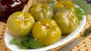 Фото рецепта Маринованные зелёные помидоры