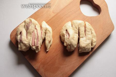 Булочки с колбасой
